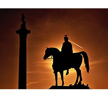 Sunset at Trafalgar Square, London Photographic Print
