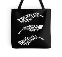 Feathers - white on black Tote Bag