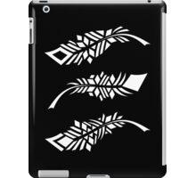 Feathers - white on black iPad Case/Skin