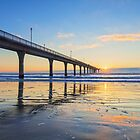Dawn, New Brighton Pier, Christchurch, New Zealand by Linda and Colin McKie