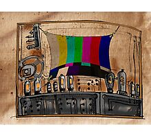 Old TV Photographic Print
