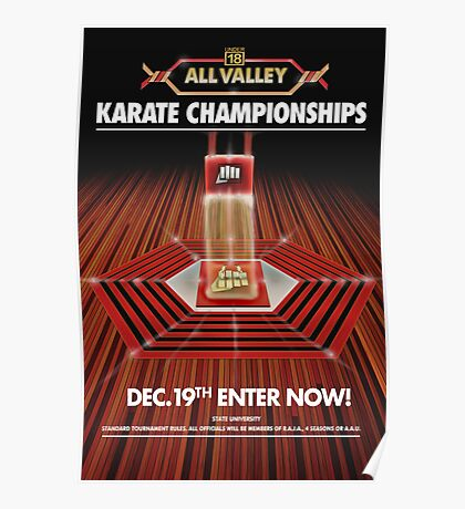 ALL VALLEY KARATE KID TOURAMENT POSTER Poster