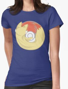 Fire Type Browser Womens Fitted T-Shirt