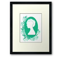Vintage Punk Cameo Turquoise Framed Print