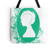 Vintage Punk Cameo Turquoise Tote Bag