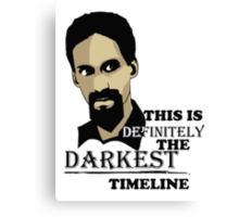 The Darkest Timeline Canvas Print
