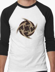 Ninjas In Pyjamas Logo Black Men's Baseball ¾ T-Shirt