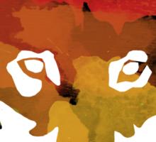 Colour Patch Wolf Sticker