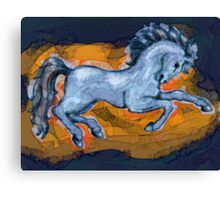 Prancing Blue Horse Canvas Print