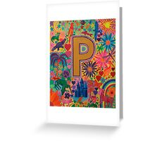 Initial P Greeting Card