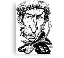 Bob Dylan Caricature Canvas Print