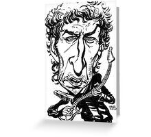 Bob Dylan Caricature Greeting Card