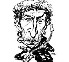 Bob Dylan Caricature Photographic Print