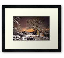 Night snow scene  Framed Print