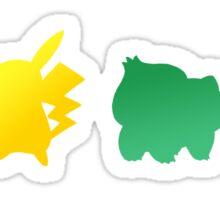 Pokemon Classic Starters Sticker