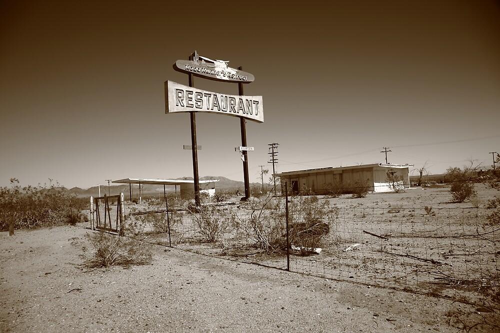 Route 66 - Road Runner Restaurant by Frank Romeo