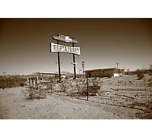 Route 66 - Road Runner Restaurant Photographic Print