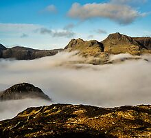 The Langdale Pikes - Cumbria by David Lewins