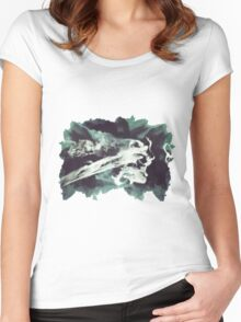 Smoke Women's Fitted Scoop T-Shirt