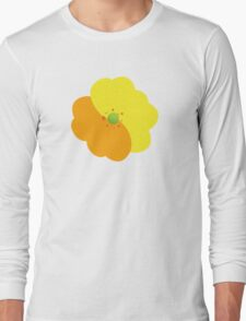 Flowers, Blossoms, Blooms, Petals - Orange Yellow Long Sleeve T-Shirt