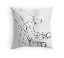 With Twins, 2012 Throw Pillow