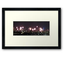 New Year's Eve 2013 Melbourne Australia Framed Print