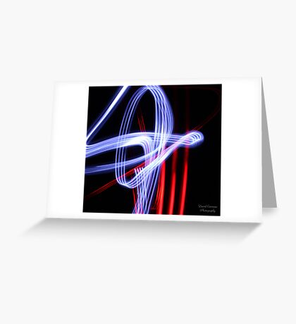 Light Streaks Greeting Card
