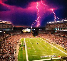 Gillette Stadium home of the New England Patriots art by Adam Asar