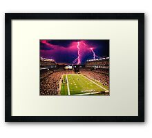 Gillette Stadium home of the New England Patriots art Framed Print