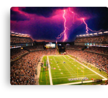 Gillette Stadium home of the New England Patriots art Canvas Print
