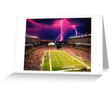 Gillette Stadium home of the New England Patriots art Greeting Card