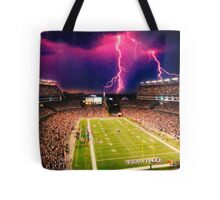 Gillette Stadium home of the New England Patriots art Tote Bag