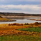 autumn countryside by the lake by redapple78