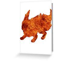 Flareon used Flamethrower Greeting Card