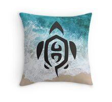 Tribal Sea Life - Turtle Throw Pillow