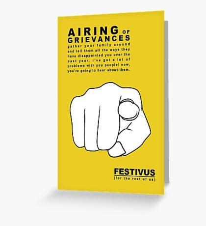 FESTIVUS airing of grievances illustration Greeting Card