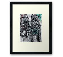 Architecture and Plant study Framed Print