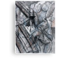 Figure and Architecture Study Metal Print