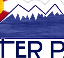 Winter Park Colorado wood mountains Sticker