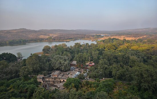 Ranthambore from the Fort by Peter Hammer