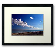Carolina Coastline Clouds Framed Print