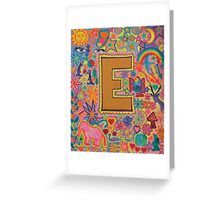 Initial E Greeting Card