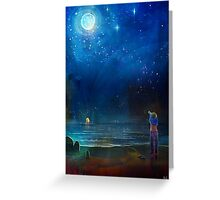 That one night at the beach Greeting Card