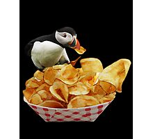 ☝ ☞THESE ARE MY PUFFIN CHIPS IPAD CASE☝ ☞ Photographic Print