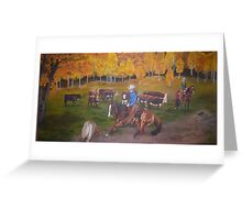Cowboy Entertainment Greeting Card