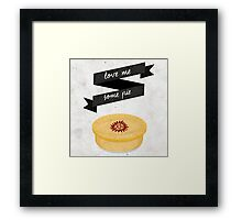 Love Me Some Pie - Supernatural Framed Print