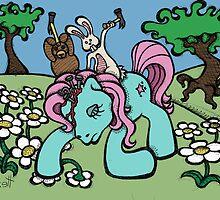 Teddy Bear and Bunny - My Little Headache by Brett Gilbert