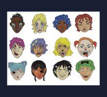 Pretty Monsters Pattern One Piece - Short Sleeve