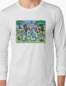 Teddy Bear and Bunny - My Little Headache Long Sleeve T-Shirt
