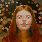 Study #7 red cadmium by Rachel  Aponte
